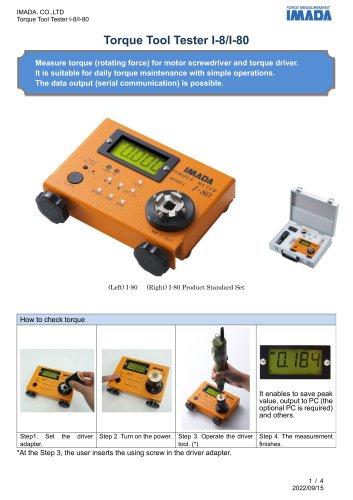 Driver Torque Meter I-8/I-80