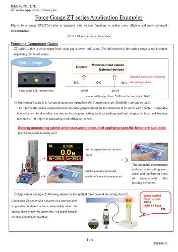 Force Gauge ZT series Application Examples