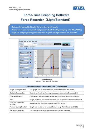 Force Recorder Standard