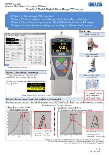 High Performance Digital Force Gauge ZT series