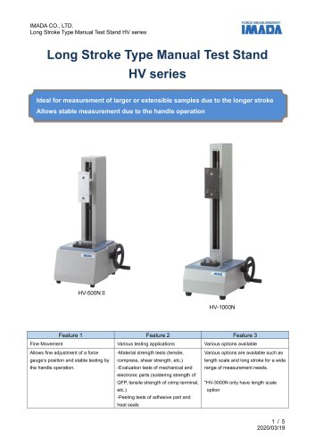 NEW Manual hand wheel operation stand HV-500N