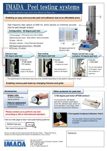 Peel testing system