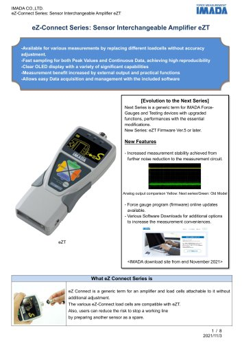 Sensor Interchangeable Amplifier eZT