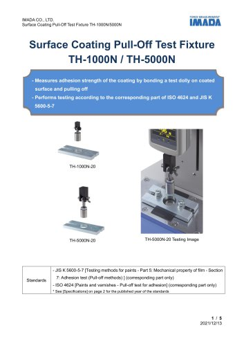Surface Coating Pull-Off Test Fixture TH series