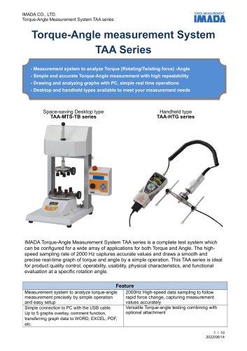 Torque-Angle Measurement Unit TAA series