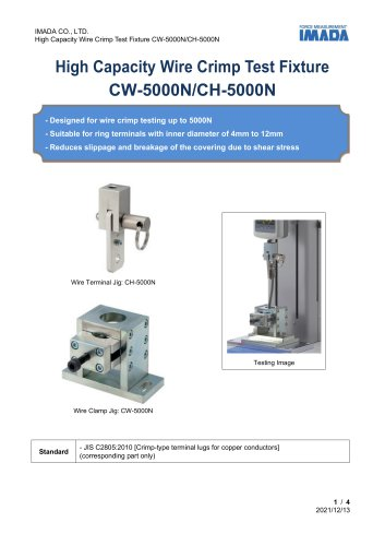Wire Crimp Test Fixture CW-5000N & CH-5000N