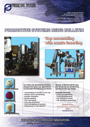 Cap assembling machine