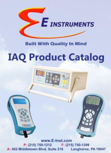 E Instruments IAQ Catalog 2016