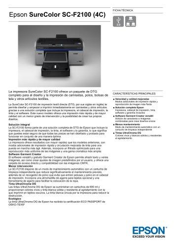 Epson SureColor SC-F2100 - EPSON Europe - Catálogo PDF