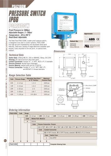 PSA2100W(Pressure Switch)