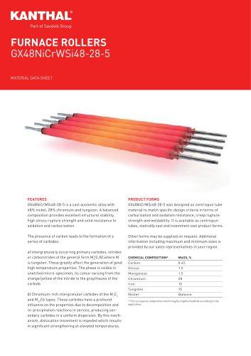 FURNACE ROLLERS GX48NiCrWSi48-28-5