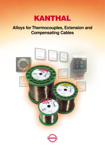 KANTHAL  Alloys for Thermocouples, Extension and
