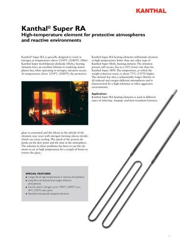 Kanthal Super RA heating elements