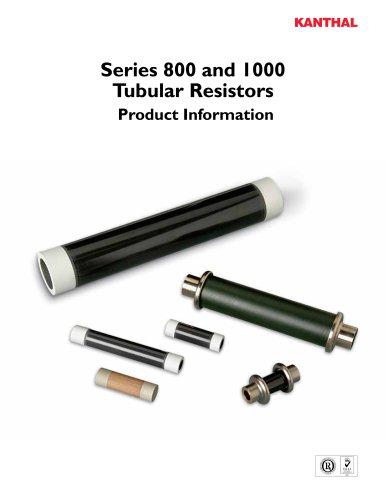 Series 800 and 1000 Tubular Resistors Product Information