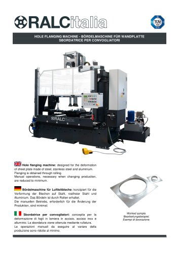 Hole flanging machine
