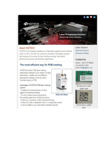 Automatic PCB  Laser Marking Solution