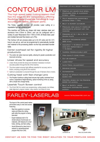 Farley Laserlab Contour LM Cutting Machine Brochure