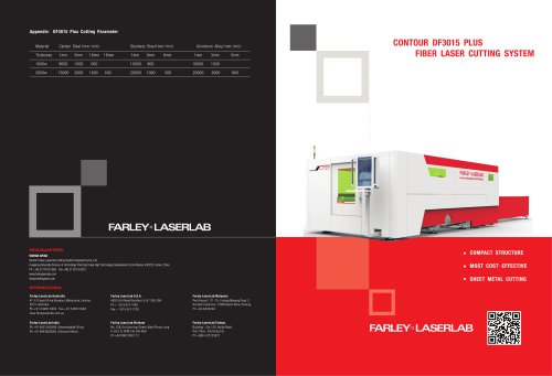 Farley Laserlab DF3015 PLUS laser cutting machine