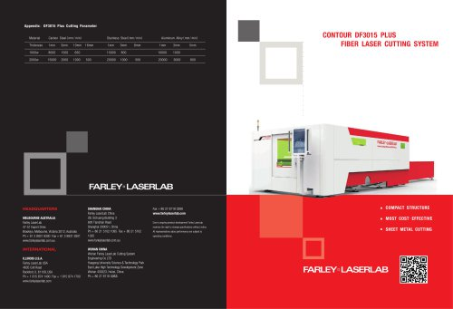 Farley Laserlab DF3015puls Fiber Laser Cutting Machine