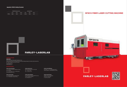Farley Laserlab Fiber Laser Cutting Machine for Sheet Metal / Farley Laserlab