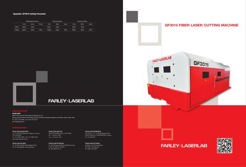 Farley Laserlab GF3015 Laser Cutting Machine for Sheet Metal Cutting