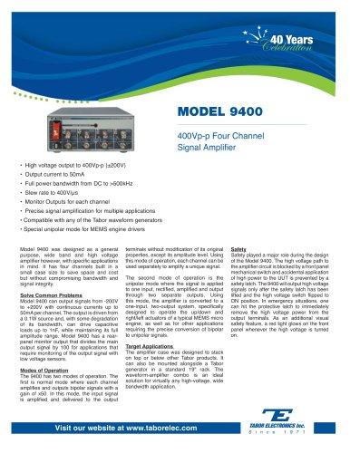 Model 9400  400Vp-p Four-Channel Signal Amplifier