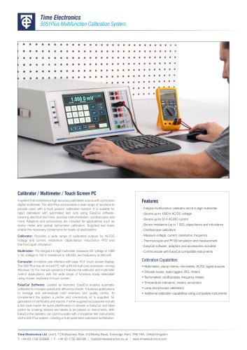 5051+ Multifunction Calibration System Data Sheet