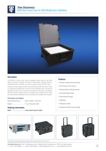 9059 Transit Case for 5025 Calibrators