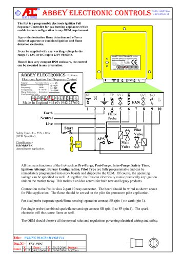 FL4503 (FL4502) ELECTRONIC IGNITION CONTROLLER FOR POOL HEATERS