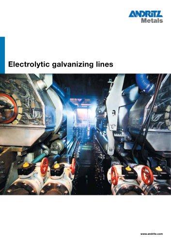 Electrolytic galvanizing lines