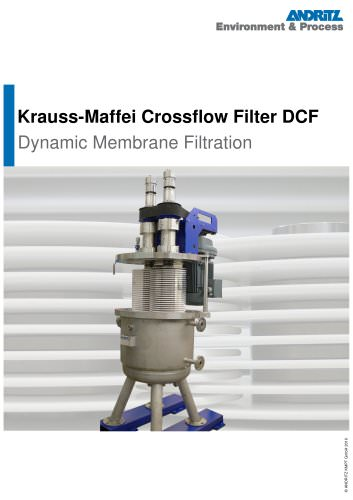 Krauss-Maffei Crossflow Filter DCF
