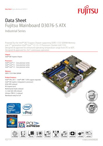 Fujitsu Mainboard D3076-S