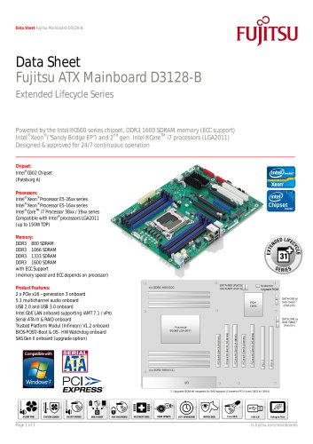 Fujitsu Mainboard D3128-B