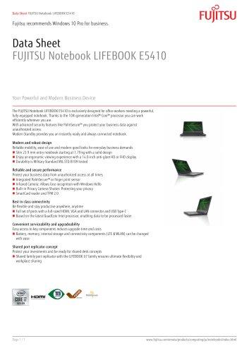 FUJITSU Notebook LIFEBOOK E5410