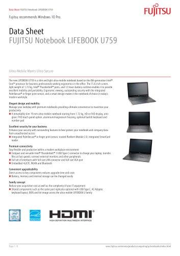 FUJITSU Notebook LIFEBOOK U759