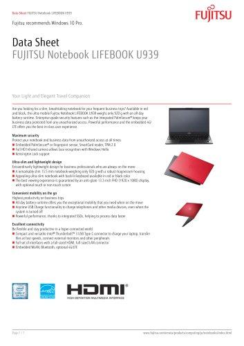 FUJITSU Notebook LIFEBOOK U939