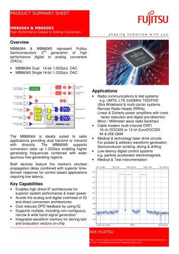 MB86064 & MB86065 High Performance Digital to Analog Converters