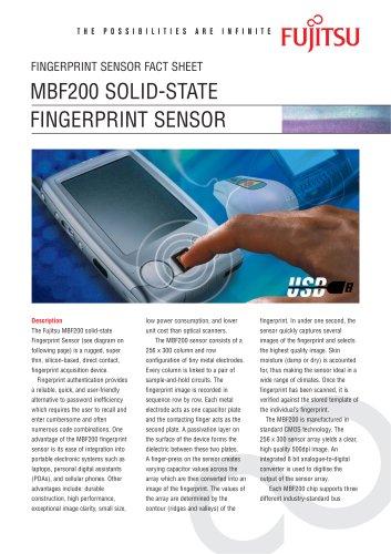 MBF200 Solid State Fingerprint Sensor fact sheet