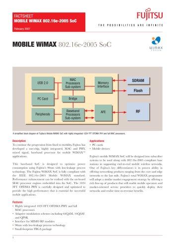 Mobile WiMAX SoC Fact Sheet
