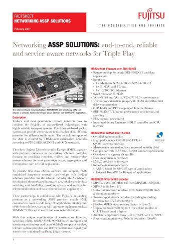 Networking ASSP Solutions