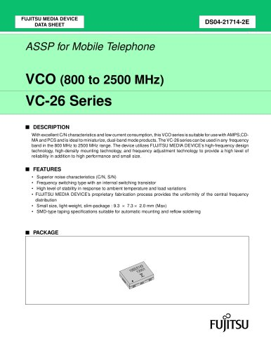 VCO (800 to 2500 MHz)