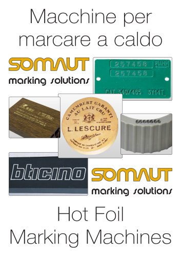 Hot foil marking machines