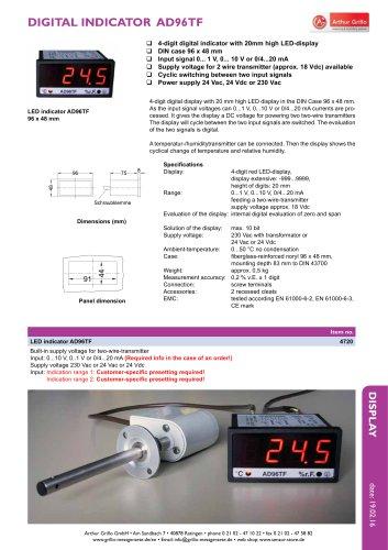 AD96TF - digital indicator