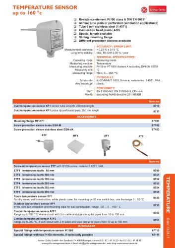 data sheet contact temperature sensor