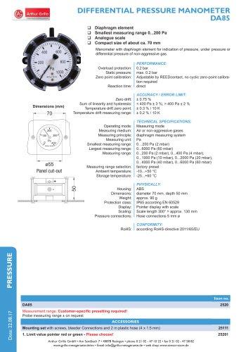 data sheet DA85