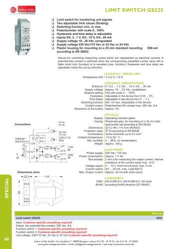 data sheet GS225