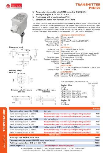 data sheet MINI90