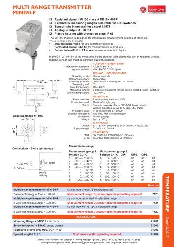data sheet MINI90P