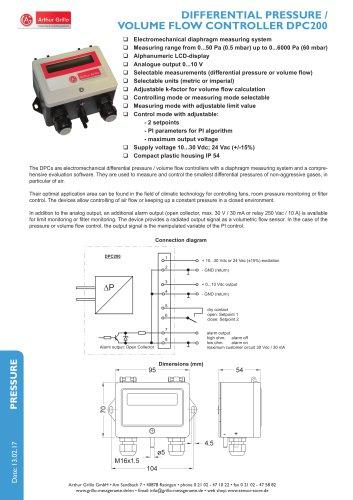 Differential pressure / Volume flow controller DPC200