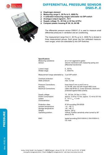 DS85-P...E - differential pressure sensor